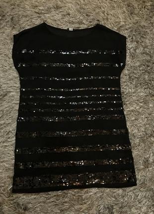 Платье/туника с пайетками