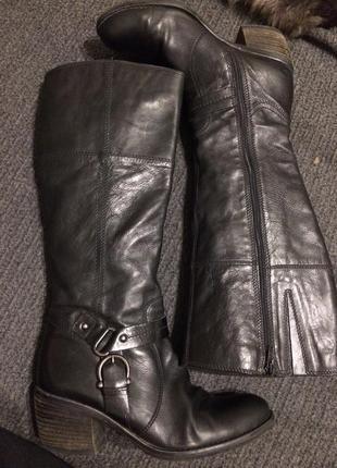 Clarks сапоги кожаные