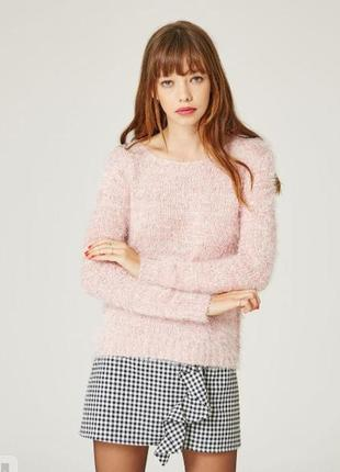 Пушистый мягкий теплый вязанный свитер\пуловер\джемпер от jennyfer (бирка!)
