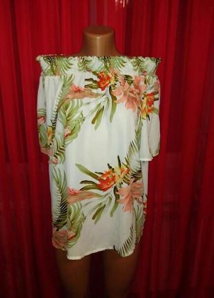 Блуза со спущенными плечиками