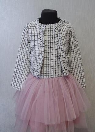 Новое платье в клеточку с жакетом