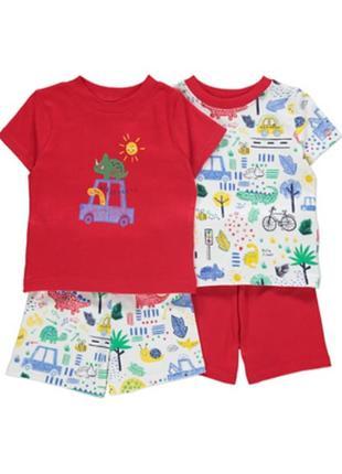 Набор пижамок 2 шт. в уп., george, англия. размеры 18-24 мес., 2-3 года