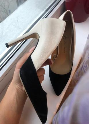 Продам туфли бренд atmosphere 38.5 размера. кожа и нубук. лодочки