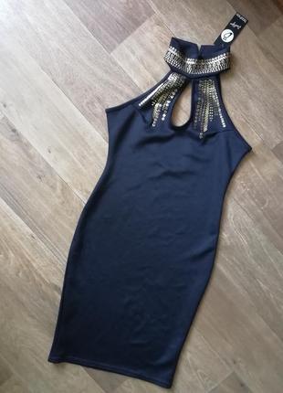 Черное вечернее, нарядное платье, сукня