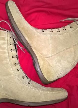 Ботинки кожаные замшевые высокие (или сапожки) next 41 размер , новые
