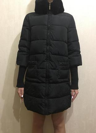 Зимнее женское пальто пуховик