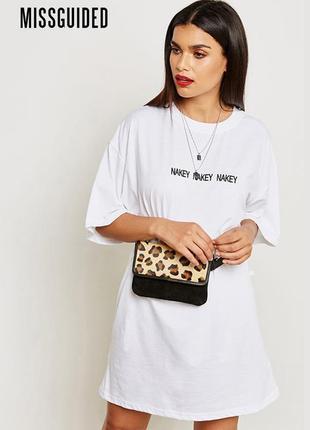 Новое платье удлиненная футболка оверсайз missguided