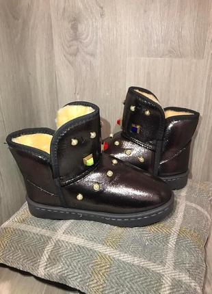 Угги тепленькие зима ботинки сапоги