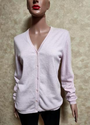 Кашемировый кардиган нежно-розовый 100% кашемир cashmere collection