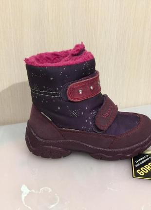 Ботинки зимние сапожки черевики термо superfit gore-tex р.26 (17см)