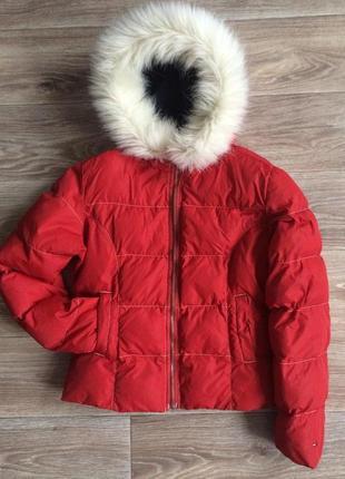 Красная прекрасная ))  короткая, но тепленькая курточка