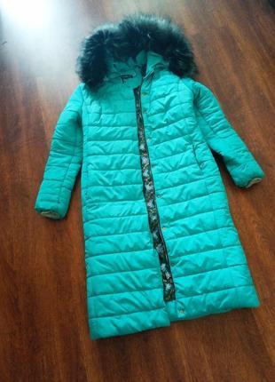 Стильное пальто-пуховик