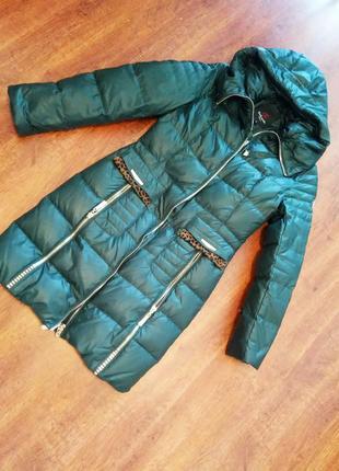 Стильный пуховик-пальто