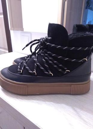 Утепленные ботиночки на толстой подошве h&m