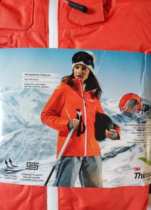 Лыжная термо-куртка crivit зима-осень р.евро 38 м германия оранжевая