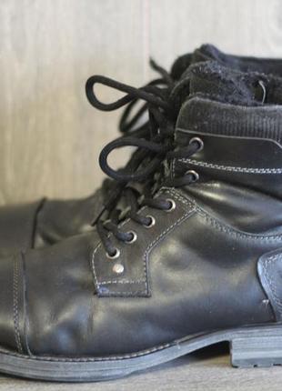 Зимние ботинки dockers натуральная кожа на меху 45