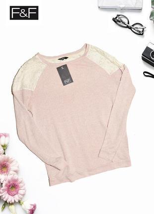 Розовый джемпер с люрексом f&f