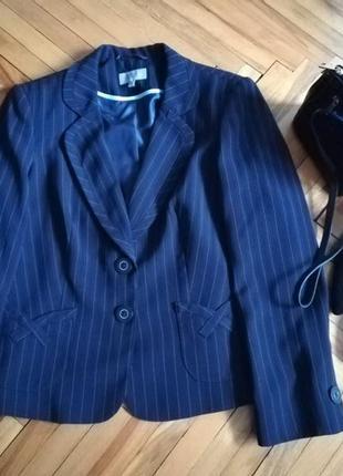 Деловой пиджак жакет в полоску
