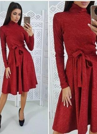 Красное платье из ангоры софт!в наличии есть разные размера!