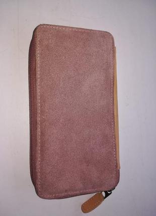 Стильный замшевый кожаный кошелек hotter