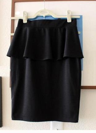 Базовая юбка черного цвета monki