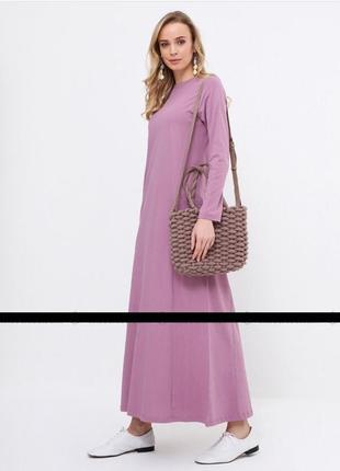 Очень красивое макси платье цвета пыльной розы