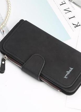 Новий стильный шикарный замшевый кошелек портмоне baellerry / клатч
