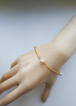 Нежный браслет с жемчугом accessorize под винтаж