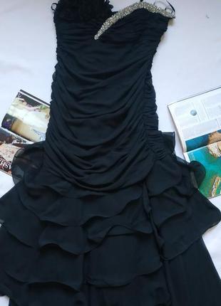 """Красивое чёрное вечернее платье в пол """"altanight  izmir"""" на новый год, корпоратив"""