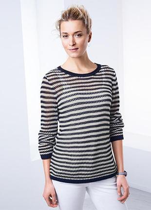 Полосатый нежный , стильный пуловер от tchibo германия