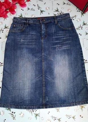 🎁1+1=3 фирменная качественная короткая джинсовая юбка gr collection, размер 46 - 48