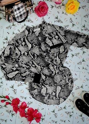 🎁1+1=3 нарядная блуза с змеиным принтом питон fushia, размер 44 - 46