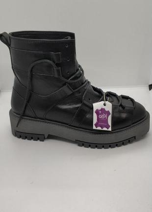 Женские зимние ботинки натуральная кожа и мех