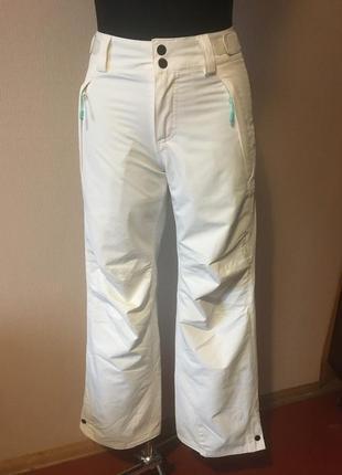 Фирменные термо брюки зимние белые женские спортивные штаны
