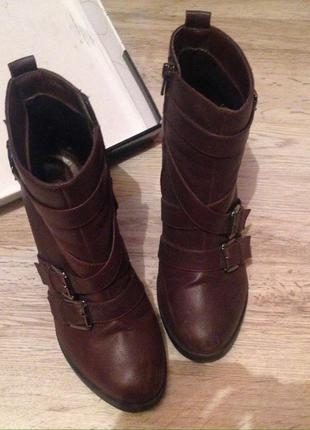 Ботинки new look бордо{марсала}