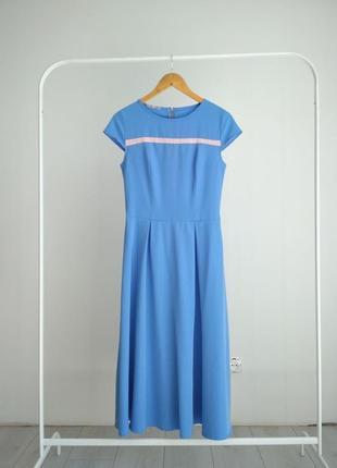 Шикарное небесно-голубое платье