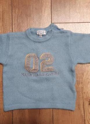Теплый свитерок, свите, кофта на мальчика 1-2 года