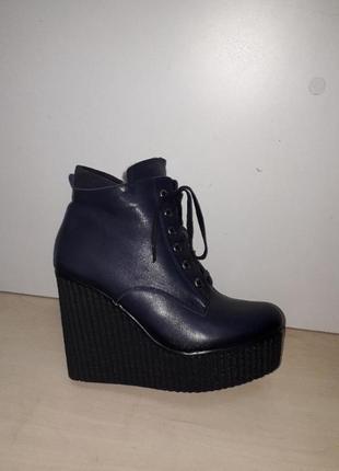 Ботинки женские зима цигейка удобная платформа