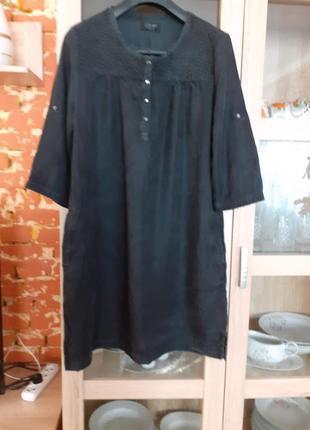 Прелестное вискозное платье с карманами большого размера