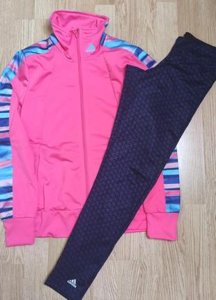 Женский спортивный костюм с леггинсами лосинами adidas оригинал