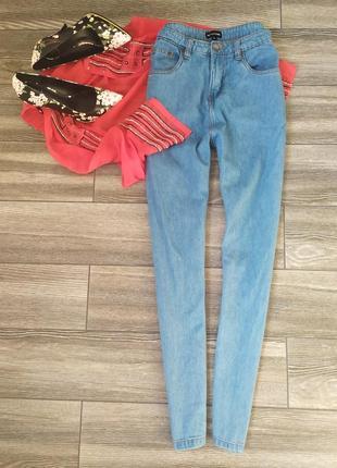 Стильные мом джинсы млм с высокой посадкой талией