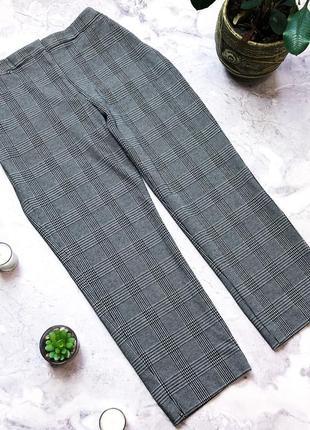 Новые теплые брюки с тяжелой плотной ткани в клетку
