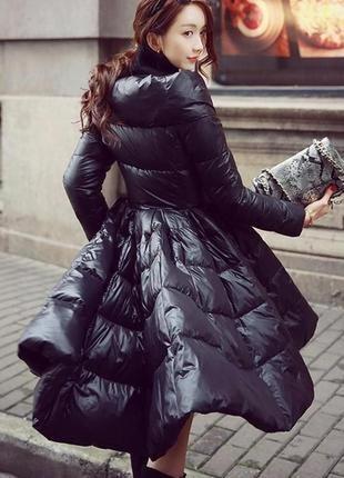 Шикарная куртка пуховик elisabetta franchi icy с пышной юбкой срочно