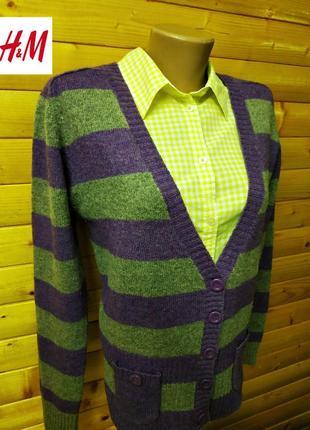 Шерстяной кардиган    на пуговицах (80% lambs wool) от h&m.