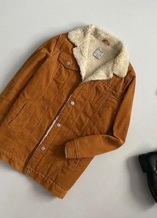 Трендовая крутая куртка шерпа denim co
