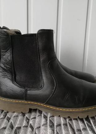 Зимние кожаные ботинки фирмы disgaard