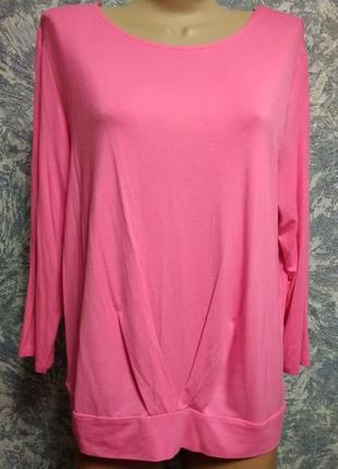 Розовый топ, футболка большого размера 18uk