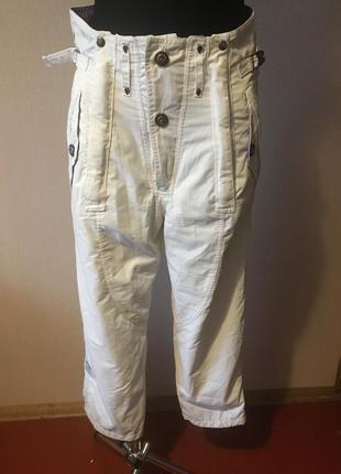 Chervo парашютные штаны белые женские спортивные