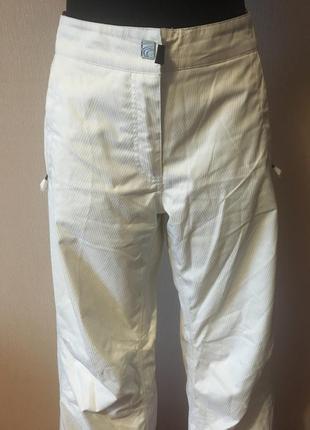 Горнолыжные штаны брюки белые спортивные лыжные штаны женские размер 40