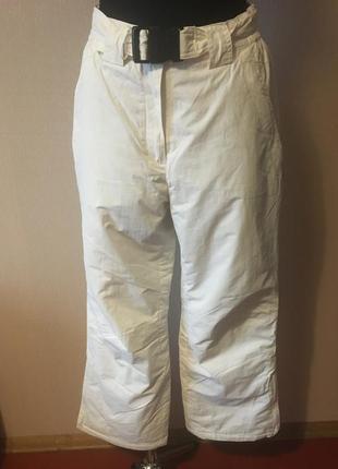 Etirel женские тёплые зимние штаны,горнолыжные и лыжные брюки белоснежные